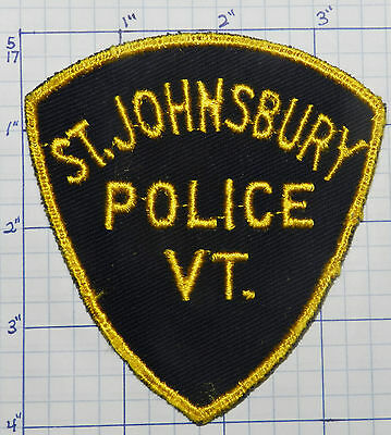 Vermont, St. Johnsbury Police Dept Vintage Patch