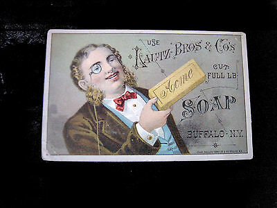 Victorian Card=LAUTZ Bros. ACME SOAP=OLIN & NICHOLS Butter-Grocers=Brooklyn-NY