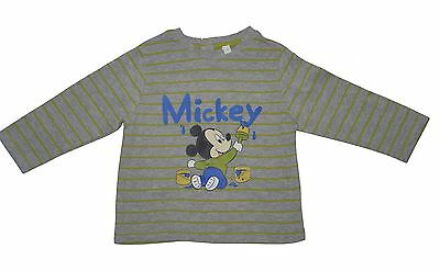 Disney Baby Grey Cotton Mickey Mouse Top T-Shirt 9 Month NWOT