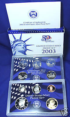 2003-s U.S. Proof Set. Complete and Original in BLUE  mint paper box