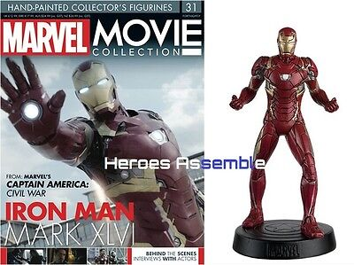 Marvel Movie Collection #31 Iron Man Mk Xivi Figurine Eaglemoss (29 30) New