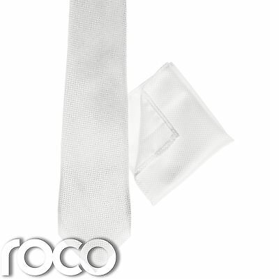 Boys White Pocket Square, Boys White Tie, Snake Skin Pattern, Suit Accessories