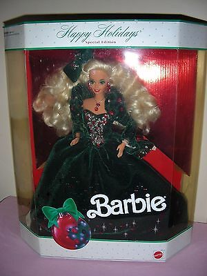 Happy Holiday Barbies 1991, 1992, 1994, 1996