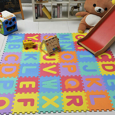 26pcs Letter Play Area Puzzle Mat Foam Playmat Kids Safety Baby Room Floor(A-Z)