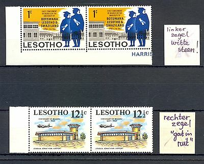 South Africa Lesotho Variety -White Stone - And - Hole In Window- ** Mnh  Vf