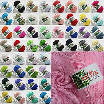 Wholesale!Popular Colors Bamboo Crochet Cotton Knitting Yarn Baby Knit Wool Yarn