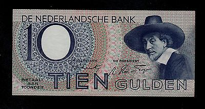 Netherlands 10 Gulden  26-2-1944  ( 9Cf )   Pick # 59 Vf  Banknote.