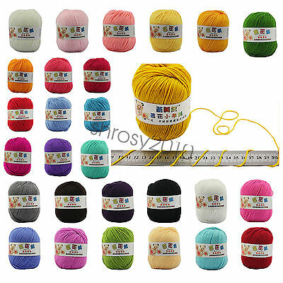 SALE LOT OF 1 Ball X 50g Super Soft Natural Smooth Bamboo Cotton Knitting Yarn