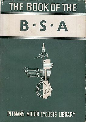 Pitman's ~ BOOK of the BSA Single V Twin 1936 on ~ WC Haycraft Manual HB DJ 1950