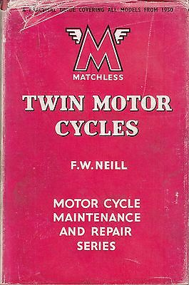 Pearsons ~ MATCHLESS TWIN Motorcycle Maintenance Repair Manual ~ 1950-1957