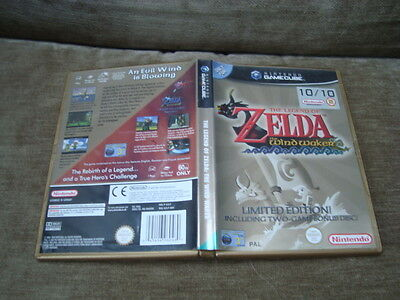 Nintendo Gamecube Legend Of Zelda-The Wind Waker 2 Game L/e-Case Only-Free P+P