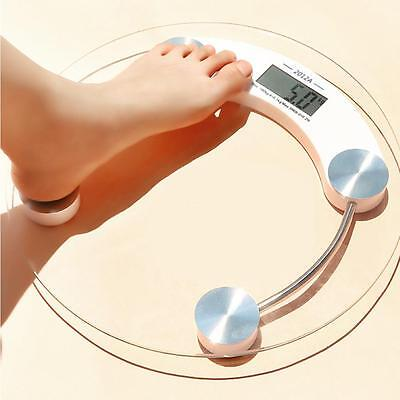 LCD Tempered Glass Bathroom Body Weight Watchers Scale 330lb/150kg