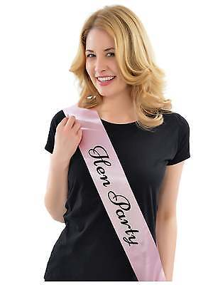 Hen Party Sash Hen Night Sashes Hen Do Sashes Pink With Black Writing