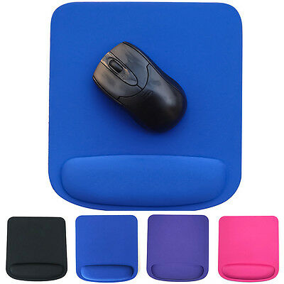 New Soft Wrist Mouse Mat Pad With Rest Wrist Comfort Support Laptop PC UK