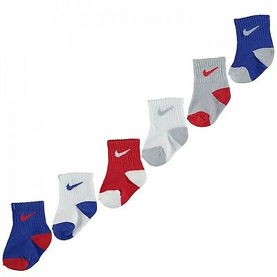 Nike Cr82 Babies Socks Bright Royale/red 6-12 Months 6 Pack