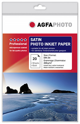 AgfaPhoto Professional Photo Paper 260 g Satin A 4 20 Blatt