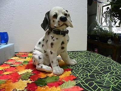 "11 1/2"" Dalmation Puppy Made Of Resin 9"" Wide Cool"