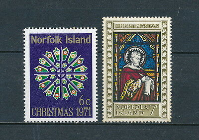 Norfolk Island  Christmas 1971 & 1972 mint