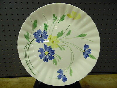 Blue Ridge / Southern Potteries / Dinner Plate / Blue And Yellow Daisies / # 1