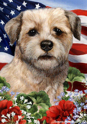 Garden Indoor/Outdoor Patriotic I Flag - Border Terrier 161221