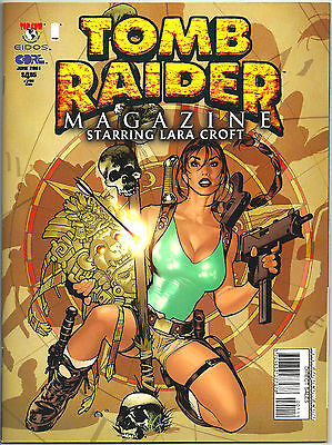 Tomb Raider Comic Magazine #1 June 2001 Image Top Cow Adam Hughes Cover NM / MT