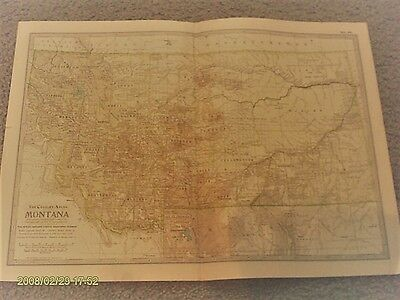 Montana Map by The Century Atlas Co. 1902