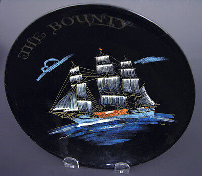 """Hand Painted Lacquer Bowl """"The Bounty"""" Metro Goldwyn Meyer Mutiny on the Bounty"""