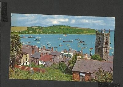 Vintage Colour postcard Parish Church & Inner Harbour Falmouth Cornwall Posted