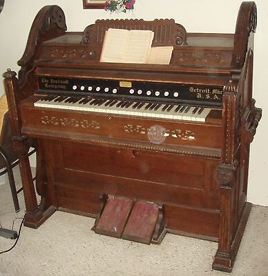 GL024 Antique Vtg Pump Organ The Farrand Company Co. Detroit Michigan MI USA