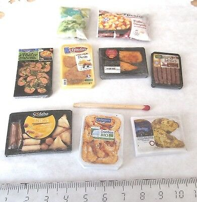 Aliments factices Miniatures Maison Poupée Vitrine Doll House Food Barbie 1/12