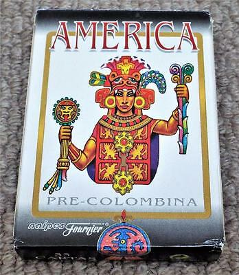 America Pre-Colombina Pack of 1960 Non Standard Fournier Playing Cards