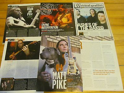 High on Fire, Lot of FIVE Full and Two Page Clippings