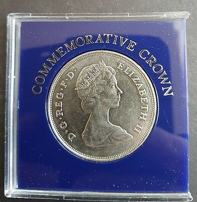 1980 Uncirculated Crown Coin The Queen Mother's 80Th Birthday Commemorative Coin