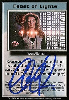 BABYLON 5 CCG Claudia Christian WHEEL OF FIRE Feast of Lights AUTOGRAPHED