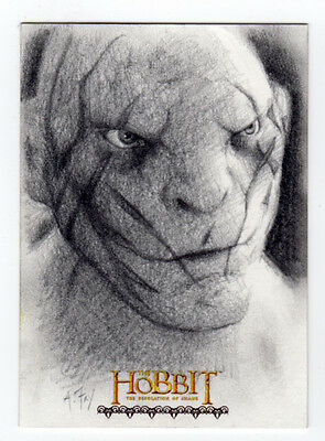 The Hobbit : The Desolation of Smaug - Andy Fry 'Azog' Sketch Card