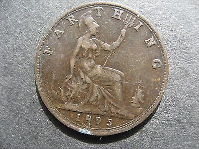 Victoria Young Head Farthing 1895, Rare Date.