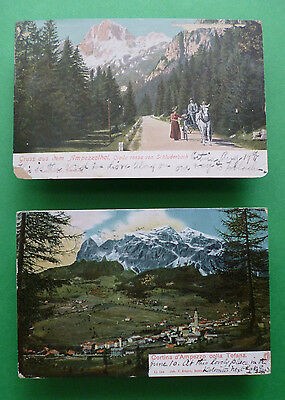 2-Old 1903,1905 postcards from Cortina d'Ampezzo/Ampezzothal, Austria, now Italy