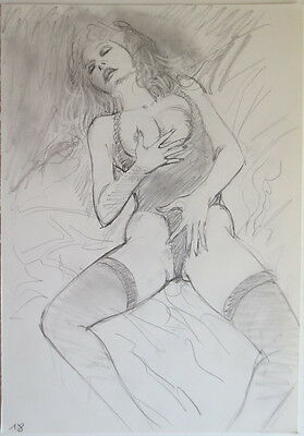 Dibujo Original Blas Gallego Drawing Original Art
