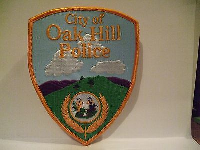 police patch    CITY OF OAK HILL POLICE WEST VIRGINIA  YELLOW STYLE