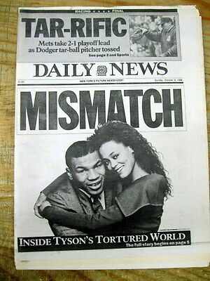 <Lot of 3 NYC newspapers BOXING CHAMPION MIKE TYSON left by Wife ROBIN GIVENS
