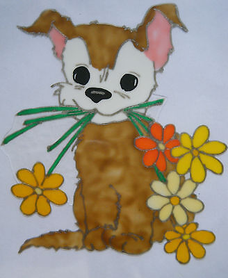 Cute Dog Animal Nursery Window Paint Picture Decoration Cling