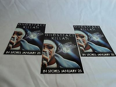 Ghostface Killah  promo sticker Supreme Clientele Set of 3 Post Card 1999 Wutang