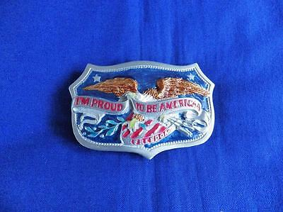 I'm Proud To Be American Belt Buckle