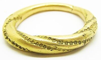 Superb Ancient Scandinavian Viking Gold Finger Ring c. 9th - 11th century A.D.
