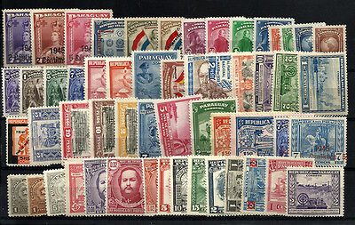 PARAGUAY lot 56 Different Stamps MNH (most) - MH (some)