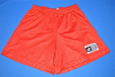 vintage 80s CONVERSE ALL STAR RED MESH NYLON ATHLETIC MEN'S SHORTS SMALL S
