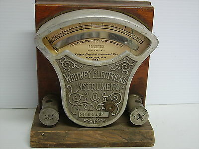 Vin. Whitney Electrical Instrument Co. AMMETER  #9053