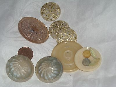 N87 Vintage Lot of 8 mix deco buttons