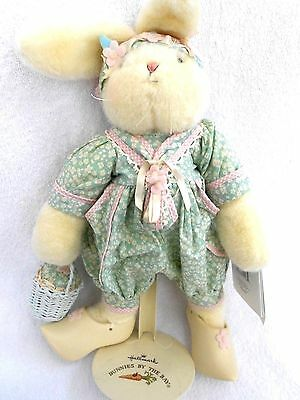 """16"""" Tidbit - Bunnies By The Bay Hallmark rabbit and stand Dutch shoes NEW"""