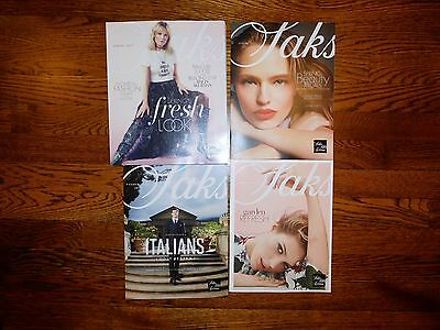 Lot of 4 Saks Fifth Avenue NEW Catalogs;  2017